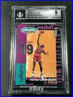 Michael Jordan 1995 Upper Deck #c1c Crash The Game Silver Redemption Card Bgs 9