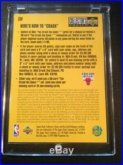 Michael Jordan 1997 Upper Deck CC #c30 Crash The Game Foil Insert Redemption Mj