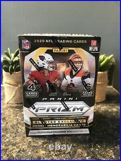 Panini Prizm 2020 NFL Football 24 Trading Cards Blaster Box Rookies