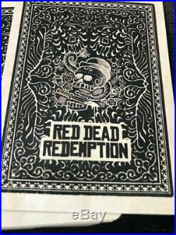 RARE New Rockstar Games Red Dead Redemption Playing Cards US Promo 2 x Sealed #5