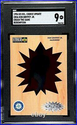 SGC 9 1996 UD Collector's Choice Ken Griffey Jr. Crash The Game Redemption MINT