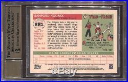 Sandy Koufax Bgs 9.5 2014 Topps Finest Rookie Redemption Auto Autograph /100 Hof