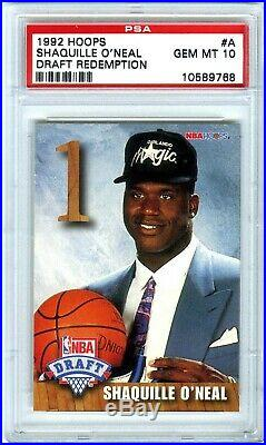 Shaquille O'nealrare 1992 Hoops Draft Redemption Psa-10 Gem-mt Rookie Rc Card#a