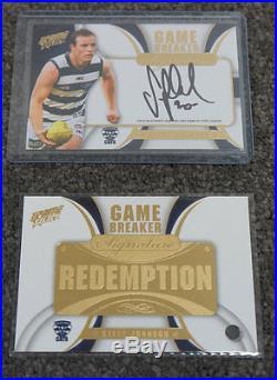 Steve Johnson Signed 2013 Prime Select Game Breaker Redemption Card 095 of 200
