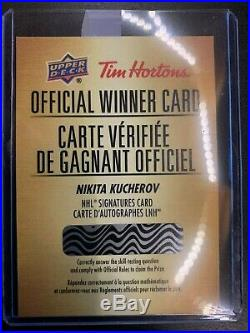 Tim Hortons 2018-19 COMPLETES OFFICIAL WINNER CARDS NOT SCRATCH Redemption