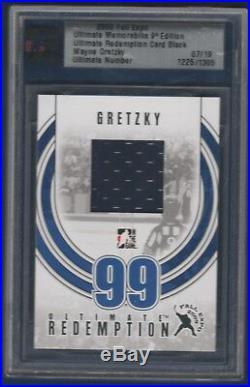 Wayne Gretzky 2009-10 In The Game Ultimate Memorabil Redemption Black /19 23235
